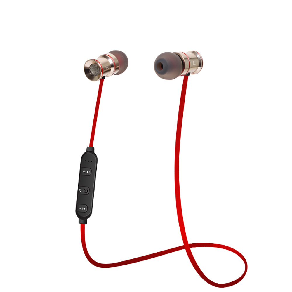 Magnetic Bluetooth Headphones Wireless In-Ear Noise Reduction Earphone With Microphone Sweatproof Stereo Bluetooth Headset 8252 original stereo sports gaming noise reduction built in microphone headphones wireless bluetooth headset for iphone samsung
