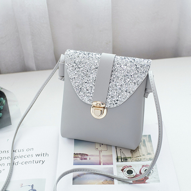 51949ee696fa US $2.25 25% OFF|Crossbody Bags For Women 2019 Korean Style Fashion Lock  Girls Mini Pink Shoulder Bag Contrast Color Bling Messenger Bags Female-in  ...