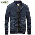 АФН JEEP новая осенне-зимний 2016 мужская куртка толстая джинсовый жакет мужской моды случайные и комфортно теплая куртка 133