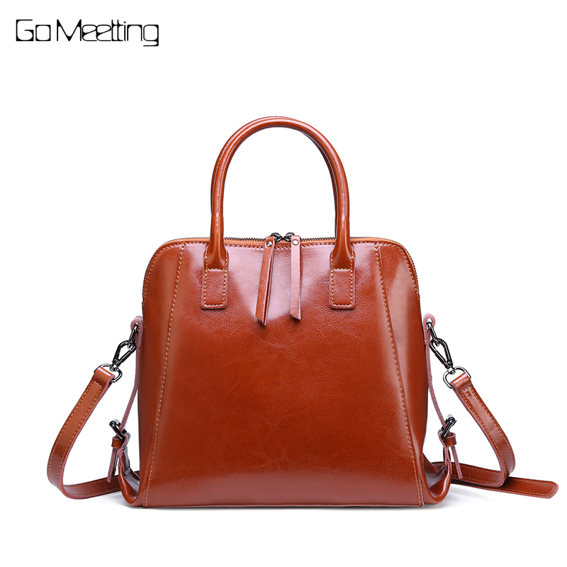 Go Meetting luxury handbags women bags designer bolsa feminina Genuine Leather Ladies Shoulder bag crossbody bags for women 2018 genuine leather cover messenger bags women ladies soft satchels crossbody bag luxury handbags women bags designer purse bolsa