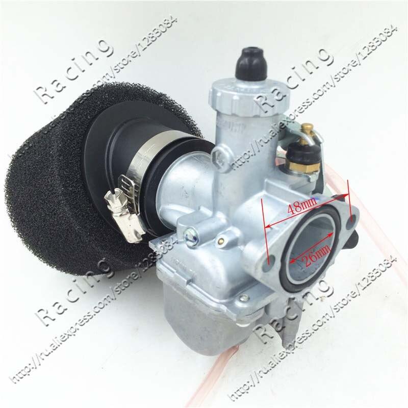 26mm karburátor VM22 Carb + černý 38mm Vzduchový filtr pro Lifan YX Zongshen 110cc 125cc Motor Čínský pit Dirt Bike ATV
