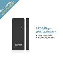 Dual band 2.4 Г/5.8 Г 11AC COMFAST 1750 М USB3.0 ac USB Wi-Fi Wi fi Антенны USB Wi-Fi Адаптер Беспроводной Сети wi-fi Карты Mini Маршрутизатор