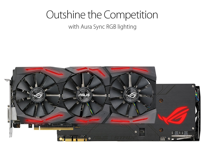 ASUS ROG STRIX-GTX1080TI-11G-GAMING GTX1080TI Raptor Warrior Graphics Used 90%new