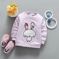 2017 New Spring Rabbit Baby Boys Girls Pullover Top Babies Girls Long Sleeve T-Shirt Clothing Sweatshirt Toddler Clothes Ss110