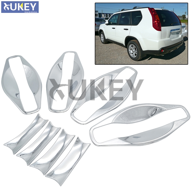Fit For Nissan X-TRAIL XTRAIL T31 Bezel 2008 2009 2010 2011 2012 2013 Chrome Trim Cup Insert Door Handle Bowl Cover Garnish