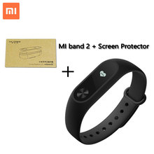 Xiaomi mi banda 2 deporte de band2 pulsera con touchpad inteligente de ritmo cardíaco de fitness resistente al agua con pantalla oled