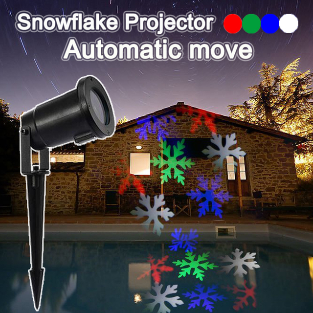 automatic move led snowflake projectorlandscape kerstverlichting outdoor projector led projector light christmas light - Led Projector Christmas Lights