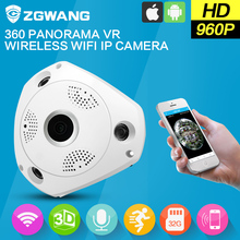 ZGWANG 360 Degree Panorama CCTV Camera Wifi 960p HD Wireless VR IP Camera  Remote Control  Surveillance Camera P2P Indoor Cam