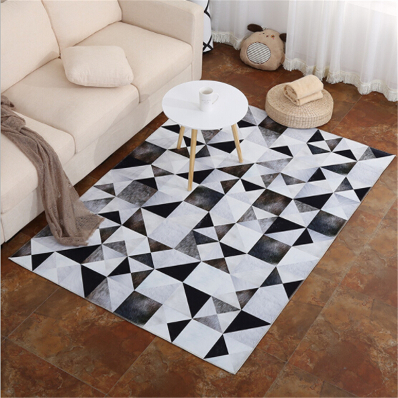 Colorful Soft Simple Style Carpets For Living Room Bedroom Area Rug Home Floor Carpet Decorate Kid