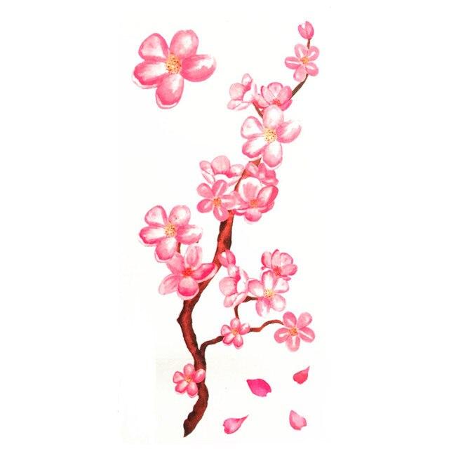 Impermeable Temporal Tatuaje Pegatinas Acuarela Rosa Flores De
