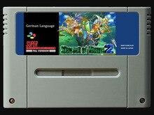 ¡Juego de 16 bits ** SEIKEN DENSETSU 3 Secret of Mana 2 (versión PAL alemana! ¡Idioma Alemán!)