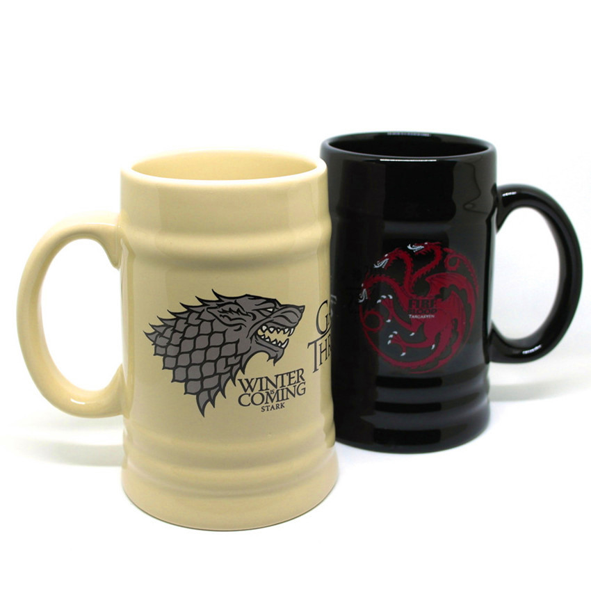 600ml Game Of Thrones Coffee Mugs Tea Cups And Mugs Winter Is Coming Fire And Blood Cool Mark Large Capacity Drinkware Mugs Aliexpress