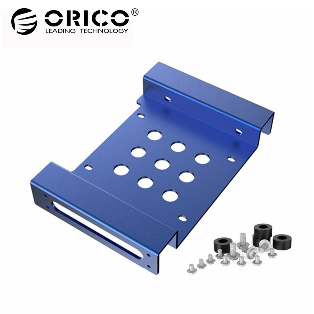 Orico Ac52535 1s 525 Inch Drive Bay To 35 Hard Rack Ssd Casing Harddisk External 25inch Sata Usb 3o Hdd Case 2139u3 Solid Aluminum Bracket Blue In Enclosure From Computer Office On