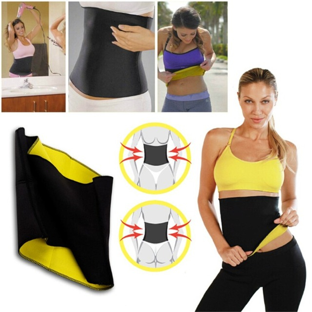 Hot Waist Band Gym Fitness Sports Exercise Waist Support Pressure Protector Body Building Belt Slim Item Sweat For Women 5