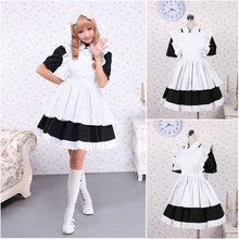 Kunden zu bestellen! V-1082 Schwarz Baumwolle Kurzen ärmeln Gothic Lolita Kleid schuluniform Halloween Cosplay Cocktailkleid