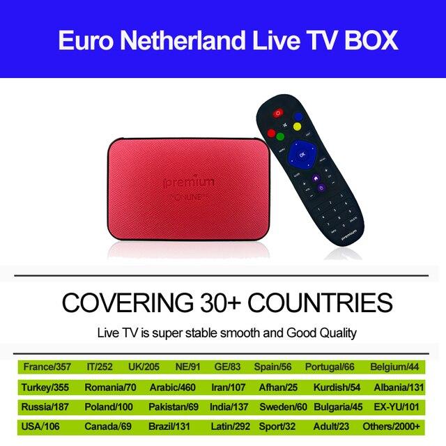 US $80 99 |IPTV France French Italy Italia Netherlands Brazil Latino Spain  Germany BOX Ipremium Avov Tv online Pro Android 6 0 Smart Tv Box-in Set-top