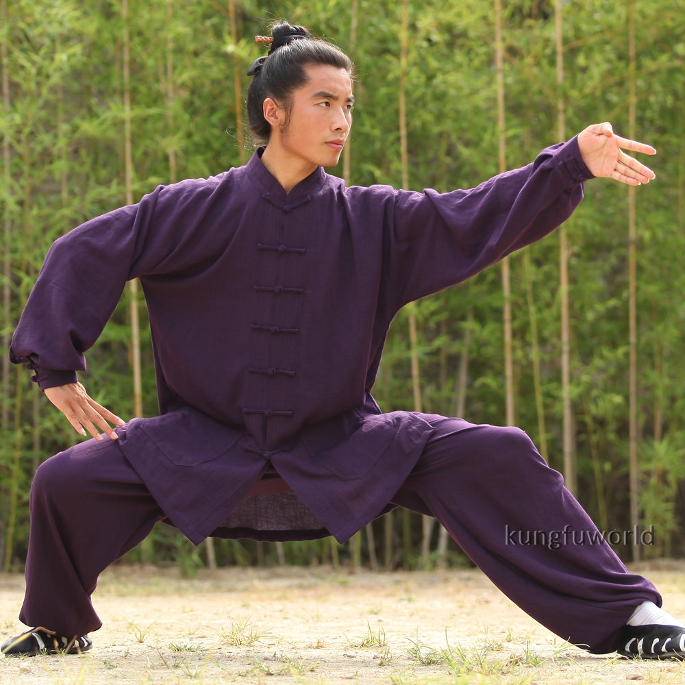 24 Kleuren Linnen Wudang Taoïstische Shaolin Monnik Tai chi Uniform - Sportkleding en accessoires - Foto 5