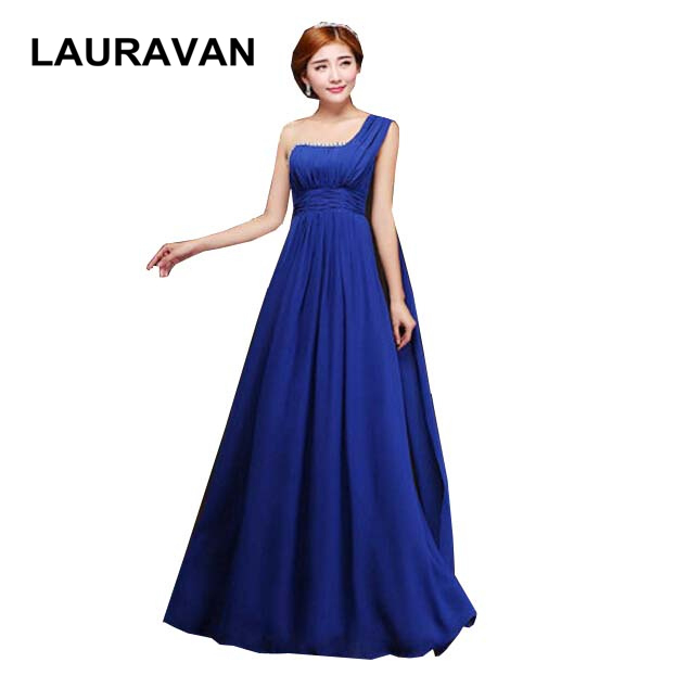 new arrival sexy womens elegant one shoulder hot pink bridesmaid gowns royal blue dresses for women cheap new arrival 2020