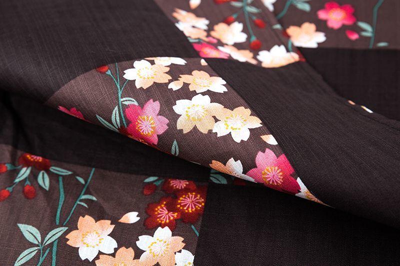 Kimono Performances Femelle Obi Light Brown Costume Traditionnel Soirée Femmes Vintage Danse De A60604 Cosplay Japonais Japon Robe Avec an8qEP
