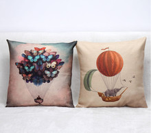 Hot Style Printed Beautiful butterfly balloon Pillow Case Decorative Cushion Gift For New House Birthday