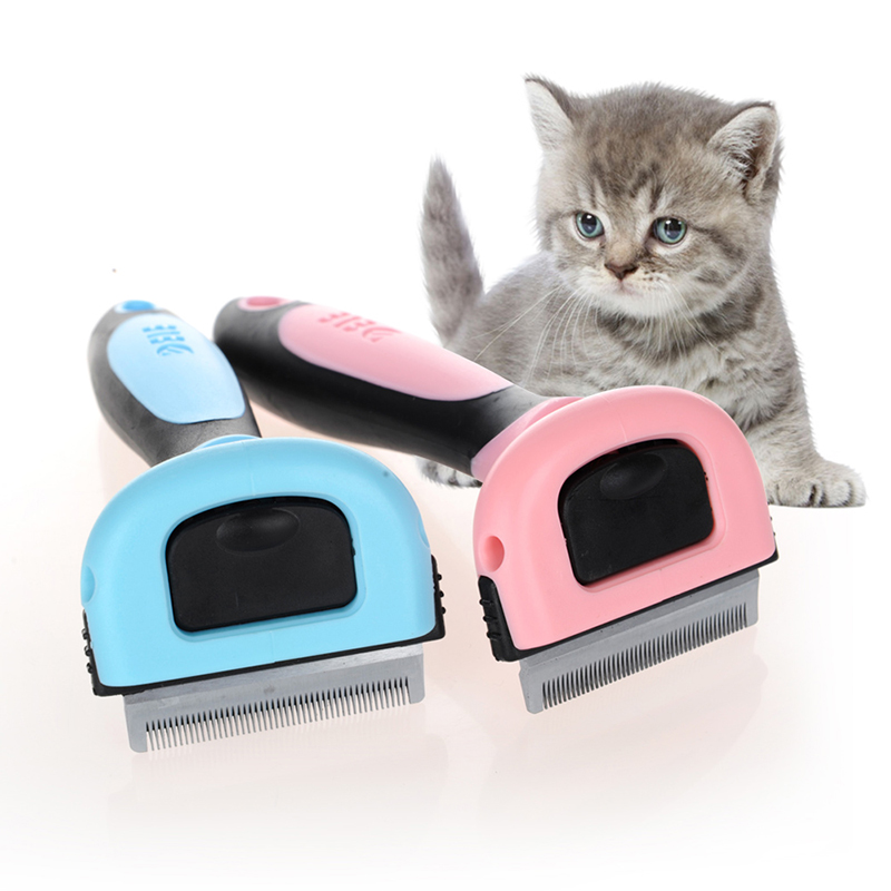 Pet Dog Cats Brush Comb Hackle For Cat Hair Remover Massage Deshedding Grooming Combing Massager Products For Cat Supply