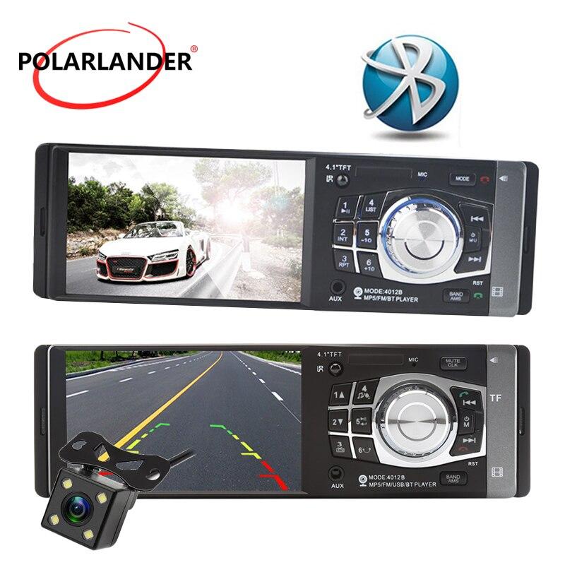 Bluetooth 4 pouces Voiture Mp5 Joueurs Soutien ISO jack Micphone lecteur de carte tf Avec voiture caméra arrière lien miroir Seulement Pour Android