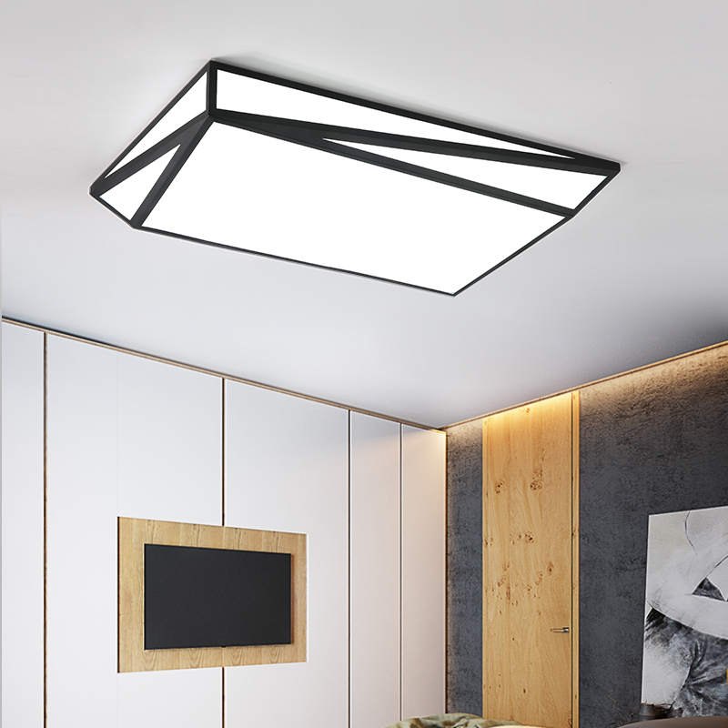 modern LED ceiling lights Plafondlamp Lighting Iron Acrylic black/ white ceiling lamp for living dining bedroom lampara techo modern indoor lighting led ceiling lights creative acrylic plafondlamp ac85 260v ceiling lamp livingroom bedroom kitchen foyer