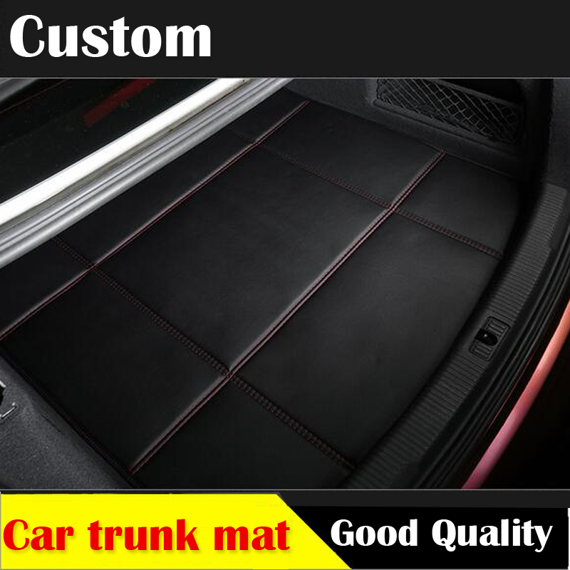 Custom  car trunk mat leather for K2 K3 K3S K4 K5 KX3 sportage sportage R car styling tray carpet cargo liner travel  camping custom cargo liner car trunk mat carpet interior leather mats pad car styling for dodge journey jc fiat freemont 2009 2017