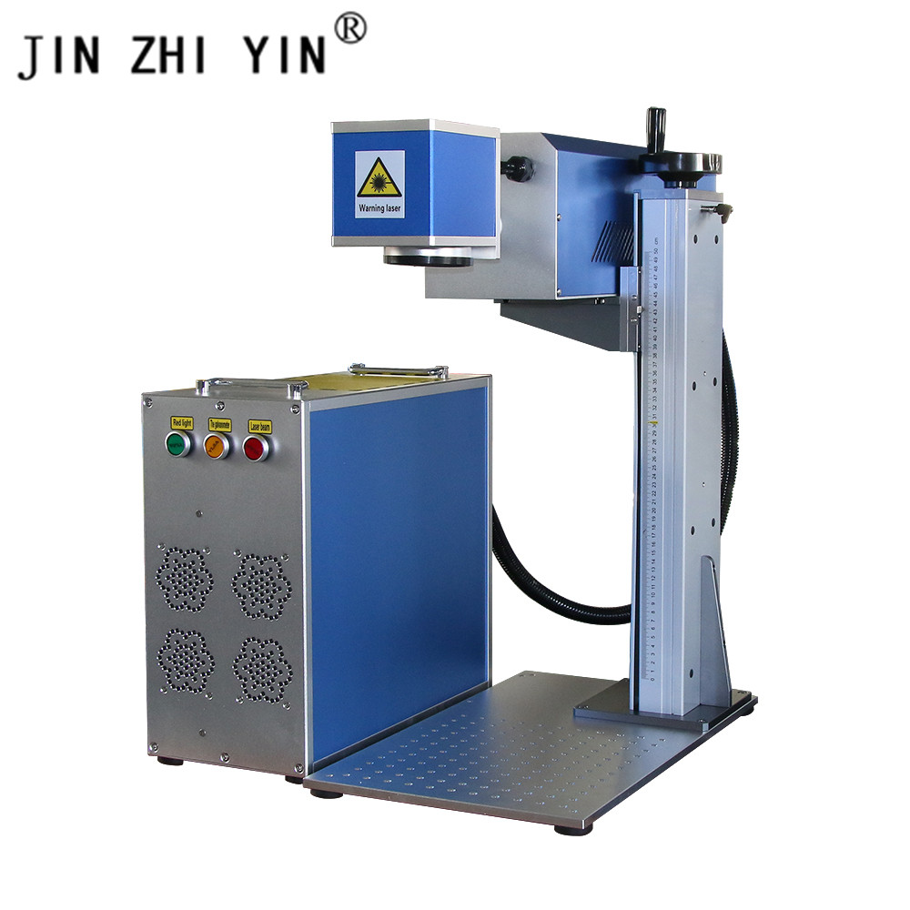 CO2 30W 300x300mm Lens Fiber Laser Marking Machine With Maxphotonics Laser Source For Metal Phone Cover Cnc Router