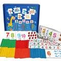 Монтессори Развивающие деревянные математические игрушки для детей с цифровым номером для дошкольного возраста  классификационная коробк...