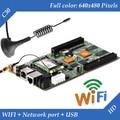 HD-C30 WIFI + USB + Porta Ethernet 2 (pode ser usado como cartão de envio) Asynchronous Vídeo Full Color display LED Cartão de Controle De WI-FI