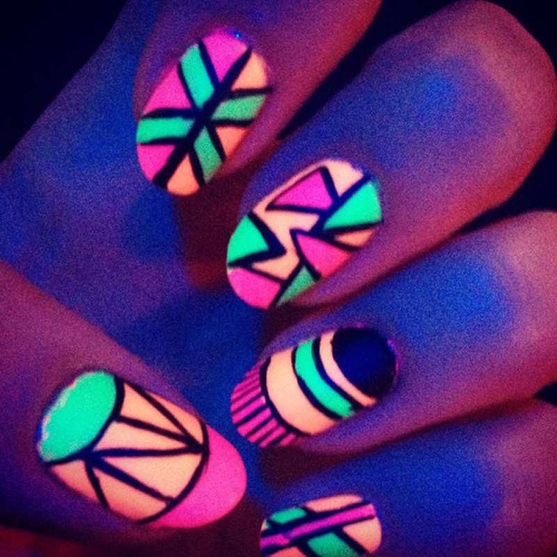 Image 5 - 12 Colors Neon Colors Phosphorescent Luminous Powder 10g Glow In Dark Nail Art Acrylic Colorful Nail Decoration-in Nail Glitter from Beauty & Health