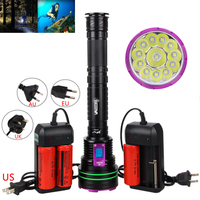 30000LM 12x XML L2 LED Diving Scuba Flashlight Torch Underwater 100m Flash Light Lamp 3x26650 CH