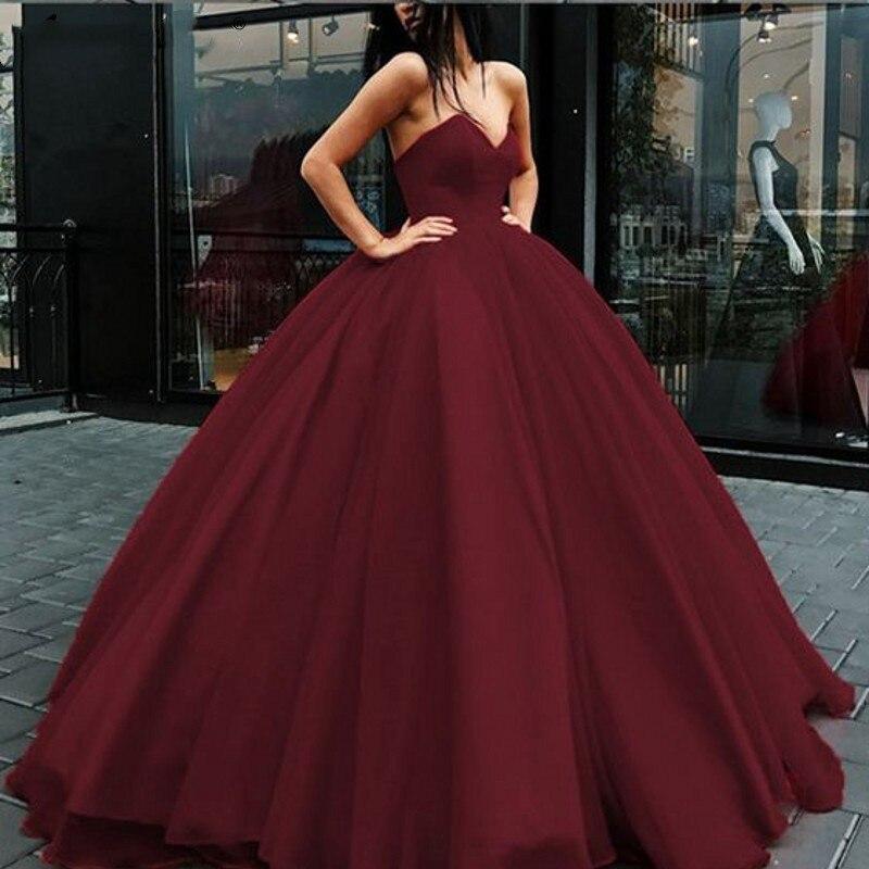 2019 nouveau Hunter vert Quinceanera robes à lacets sans bretelles étage longueur robe de bal formelle fête cérémonie Graduation longues robes - 5