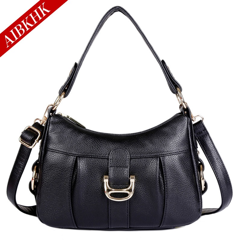 Luxury Handbags Women Bags Designer High Quality Genuine Leather Ladies Shoulder 2018 New Casual Crossbody Soft Top-Handle Bags 2018 new fashion top handle bags women cowhide genuine leather handbags casual bucket bags women bags rivet shoulder bags 836