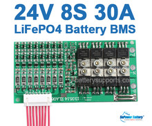 SuPower 8S 3.2Vx 8 24V 25.6V 29.2V 30A LiFePo4 LFP LiFe Battery BMS Management System Balance PCB Chip Protection Circuit Board(China)