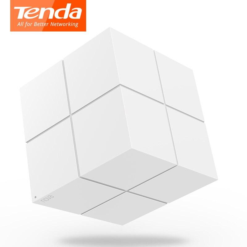 Tenda Nova MW6 système de WiFi Gigabit à mailles entières avec routeur sans fil WiFi 11AC 2.4G/5.0 GHz et répéteur, gestion à distance APP