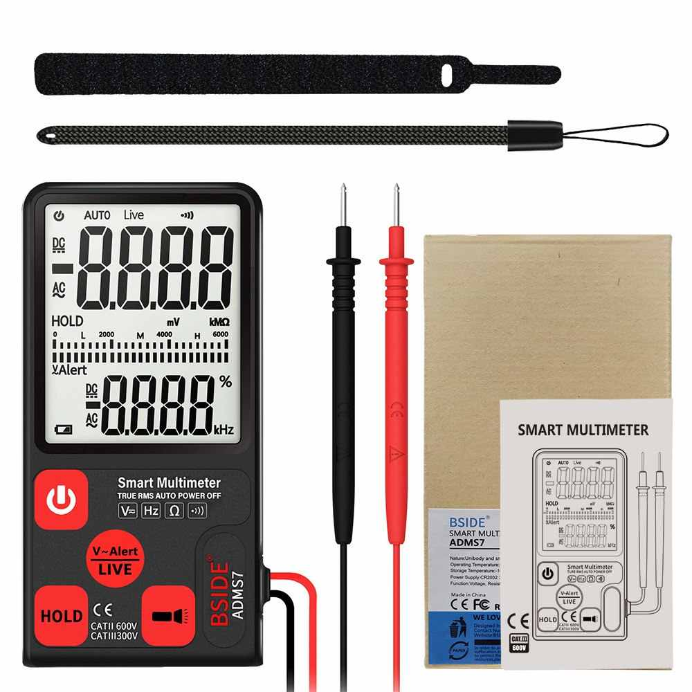 ADMS7 Portable Digital Multimeter Auto AC//DC Voltage Meter Ohm Tester LCD