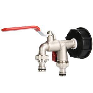 Image 4 - Adaptador IBC de 1000 litros, Conector de tanque de agua de jardín, adaptador de tanque de agua de lluvia, conectores de agua para jardín doméstico