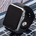 Reloj de pulsera bluetooth podómetro deporte notificador apoyo sim cámara smartwatch conectividad para apple iphone android smartpho