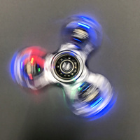 LED Light Fidget Spinner Finger ABS EDC Hand Spinner Tri For Kids Autism ADHD Anxiety Stress