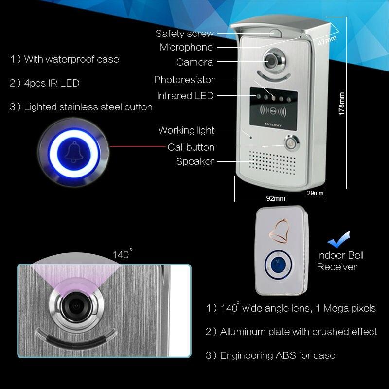 Wifi Door Viewer Camera Door Wifi Wired Doorbell 12v Wifi Door Bell