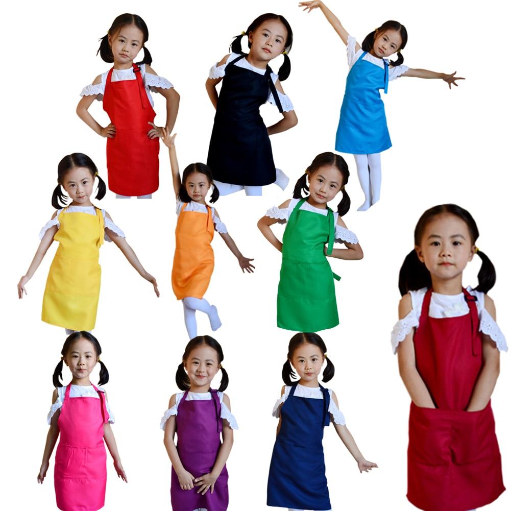 Multifunctional Baby Girl Boy Aprons Kitchen Lunch Garden Kids