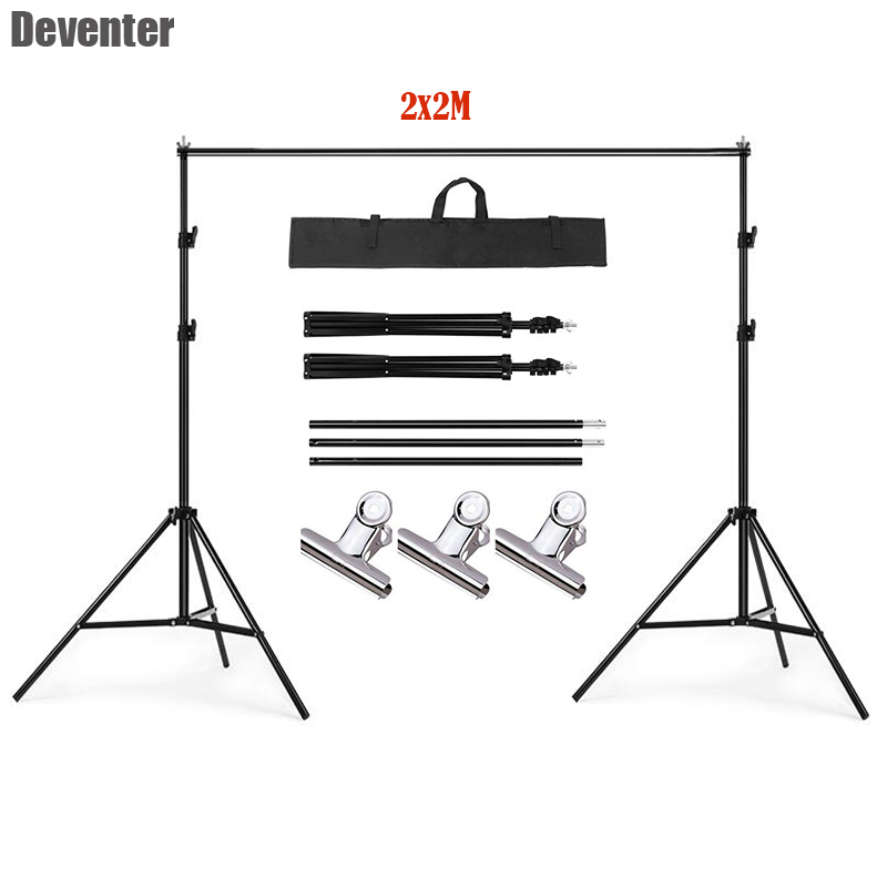 Photo Studio 2x2M Background Stand 6 5x6 5Ft Adjustable Aluminum alloy Background Stand Kit Support System