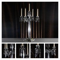 Candlestick Crystal Candelabra Tall Candle Holder Wedding Event Table Centerpiece Decor Candelabra Candle Stand Detachable