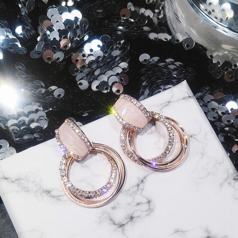 Classic Acrylic Women Stud Earrings Circle Earrings Fashion Jewelry Womens Accessories