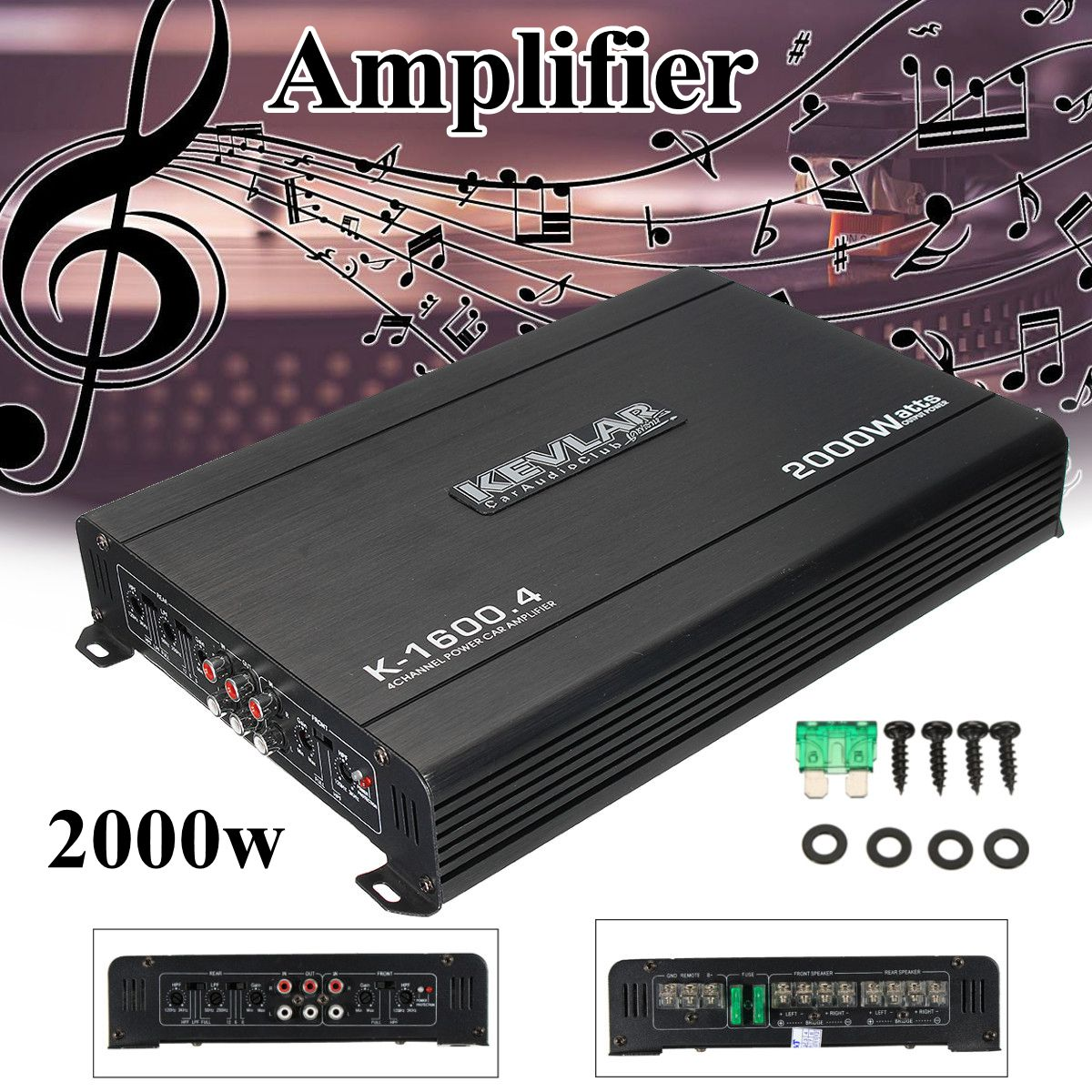 4 Channel Car Home Amplifier Audio 2000w 12dB High Power Car Amplifiers High Power for car home black 12v car amplifier high power 1900w audio 4 channel 4 way amplifiers booster auto free shipping dropping