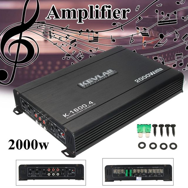 US $63 32 43% OFF|4 Channel Car Home Amplifier Audio 2000w 12dB High Power  Car Amplifiers High Power for car home-in Amplifier from Consumer