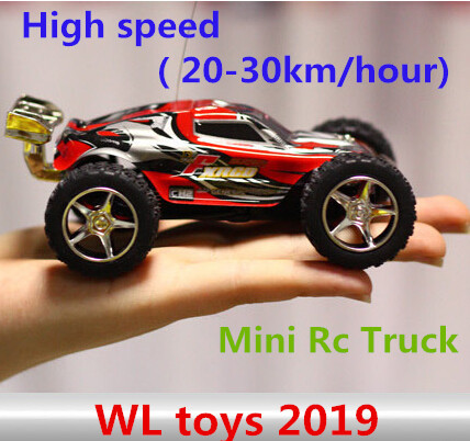 WL toys 2019 High speed Mini Rc Truck ( 20-30km/hour) 4CH Super cars Amazing Radio Control Car Best Gift free shipping