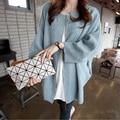 2015 new arrival autumn jacket women fashion Korean casual knit sweater jacket fashion female coat DX285